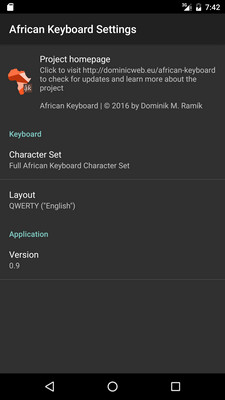 African Keyboard Options